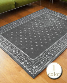 Cross Bandanna Rug 200×140cm Gray 【1color】