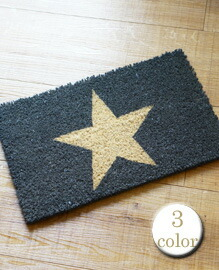 "MINI COCO MAT""ONE STAR"" 25x40�p 【3color】"