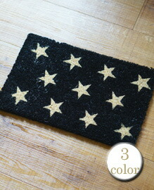 "MINI COCO MAT ""STARS"" 25x40�p 【3color】"