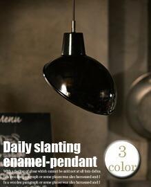 デイリースランティングエナメルペンダント (Daily slanting enamel-pendant)
