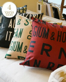 BUS SIGN TEXTIL CUSHION COVER <カバーのみ>