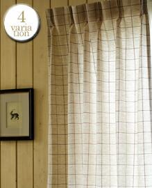 Windowpen プリーツカーテン1.5倍ひだ −210cm 【4variation】