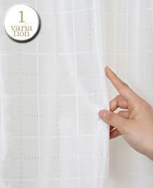 Check プリーツカーテン1.5倍ひだ −210cm 【1variation】