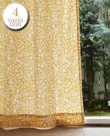 キリエコバナ(W100×H178cm)ドレープカーテン 【4variation】