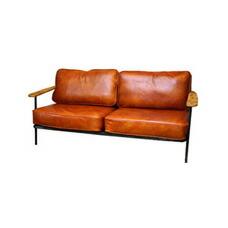 Selma leather sofa Burnt BIMAKES