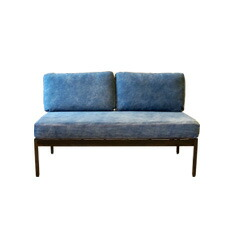 Selma ARMLESS BENCH SOFA /DENIM BIMAKES