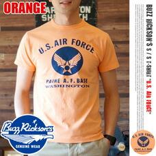 T-SHIRT U.S. AIR FORCE 2015 ORANGE BUZZ RICKSON'S