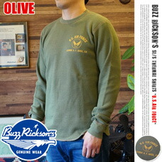 L/S THERMAL T U.S.AIR FORCE OLIVE BUZZ RICKSON'S