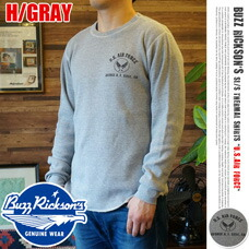 L/S THERMAL T U.S.AIR FORCE H/GRAY BUZZ RICKSON'S