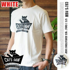 cats paw s/s tee 「old」ホワイト 【2variation】