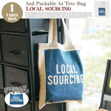AND PACKABLE A4 TOTE BAG LOCAL SOURCING 約40×36 cm