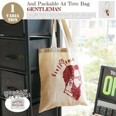 AND PACKABLE A4 TOTE BAG GENTLEMAN 約40×36 cm