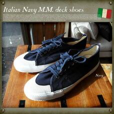 イタリア海軍M.M.デッキシューズ MILITARY ITEM