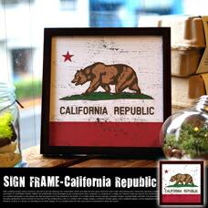 SIGN FRAME 「California Republic」 W220×D20×H220mm