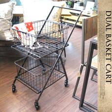 Dual basket cart S255-43 DULTON