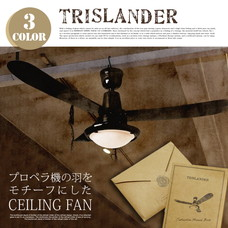 TRISLANDER CEILING FAN 【3color】