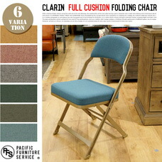 CLARIN FULL CUSHION FOLDING CHAIR 【6color】