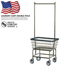 LAUNDRY CART DOUBLE POLE PACIFIC FURNITURE SERVICE