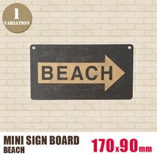 MINI SIGN BOARD「BEACH」 170×90mm