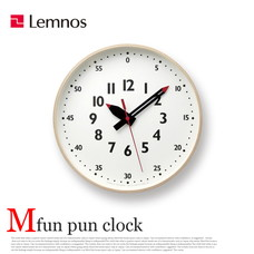 fun pun clock Mサイズ φ30.5cm YD14-08M