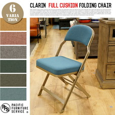 CLARIN FULL CUSHION FOLDING CHAIR 【6color】