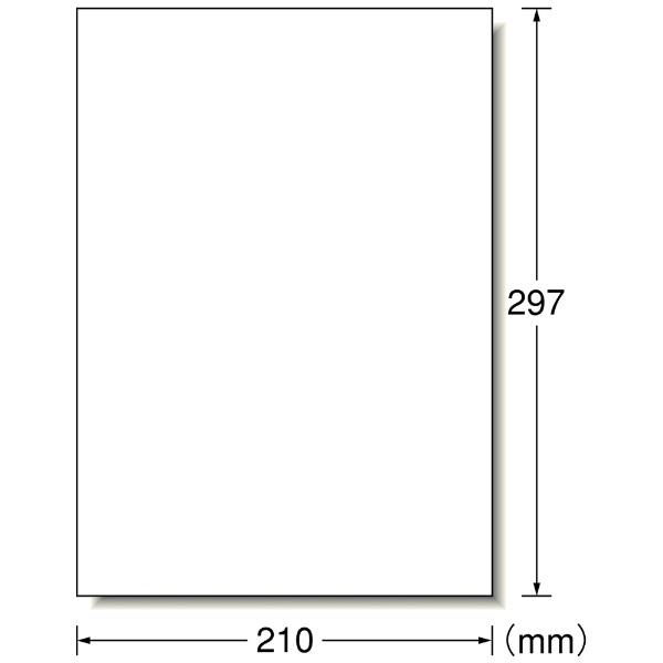エーワンA-one再生紙レザープリンタラベルホワイト31361[A4/100シート/1面/マット]【aoneC2009】
