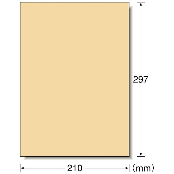 エーワンA-oneマルチプリンタラベルクラフトタイプライトブラウン28497[A4/15シート/1面/マット]【rb_mmme】