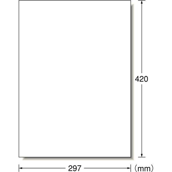 エーワンA-oneレーザープリンタラベル屋外でも使えるポスター用フィルムタイプホワイト31033[A3/5シート/1面/マット]【aoneC2009】