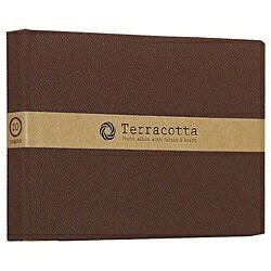 ナカバヤシNakabayashiブック式布クロスフリーアルバム「テラコッタ」(L判1段/ブラウン)TER-L1B-110-BR[TERL1B110BR]