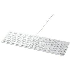 BUFFALOバッファローキーボードホワイトBSKBM01WH[USB/有線][BSKBM01WH]