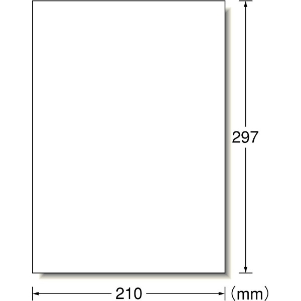エーワンA-oneラベルシールレーザープリンタホワイト66201[A4/100シート/1面/マット]【aoneC2009】