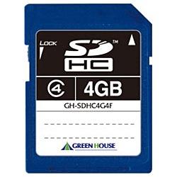 グリーンハウスGREENHOUSESDHCカードGH-SDHC*4FシリーズGH-SDHC4G4F[4GB/Class4][GHSDHC4G4F]