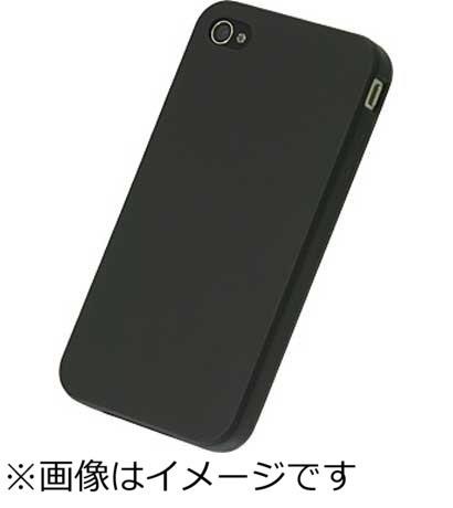 パワーサポートPOWERSUPPORTiPhone4S/4用シリコンジャケットセット(マットブラック)PHC-12[PHC12]