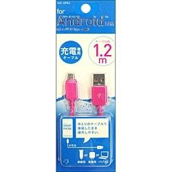 オズマOSMA[microUSB]充電USBケーブル(1.2m・ピンク)IUC-SP02P[1.2m]