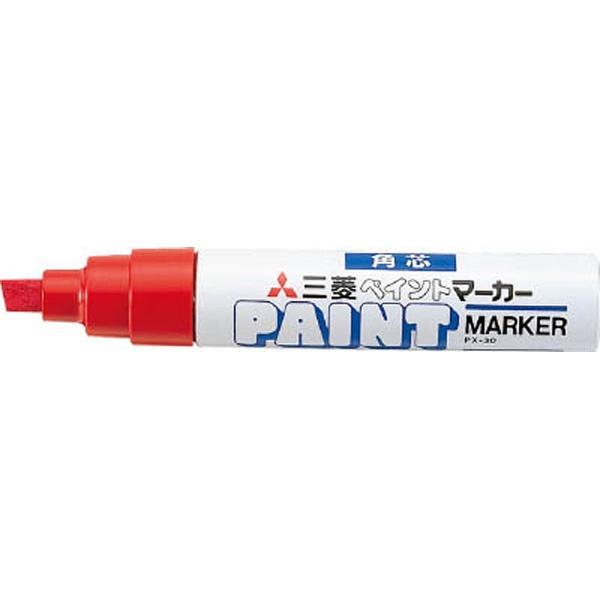 三菱鉛筆MITSUBISHIPENCIL[油性マーカー]ペイントマーカー太字角芯赤PX30.15[PX3015]