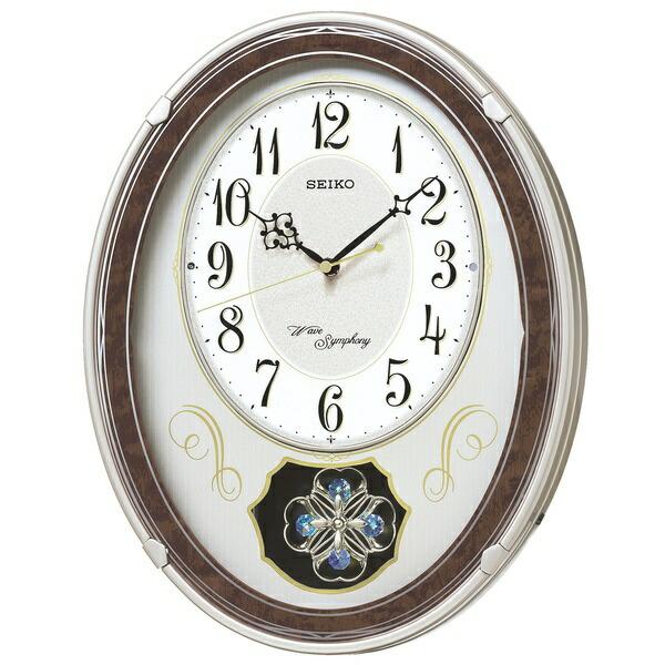 セイコーSEIKOからくり時計【ウェーブシンフォニー】薄金色パールAM259B[電波自動受信機能有]