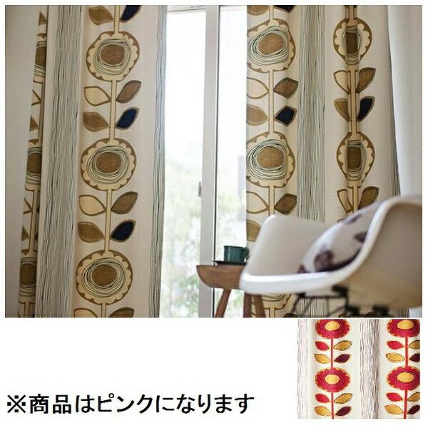スミノエSUMINOEドレープカーテンサンフラワー(100×178cm/ピンク)【日本製】[V1211100X178]