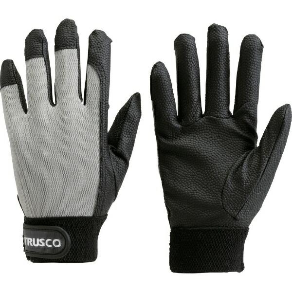 トラスコ中山PU厚手手袋LLサイズグレーTPUGGLL