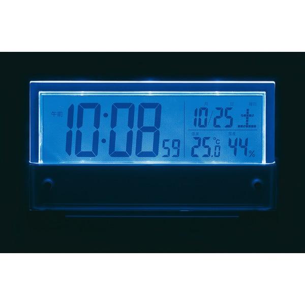 セイコーSEIKO目覚まし時計銀色メタリックSQ773S[デジタル/電波自動受信機能有][SQ773S]