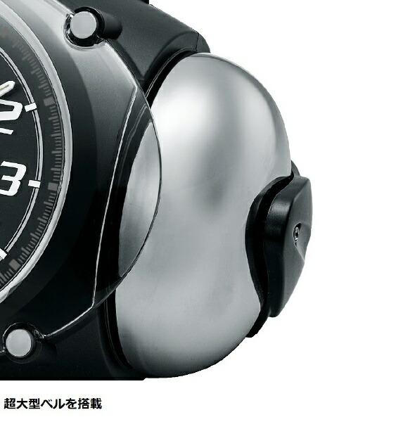 セイコーSEIKO目覚まし時計SuperRAIDEN(スーパーライデン)黒メタリックNR438K[アナログ][NR438K]
