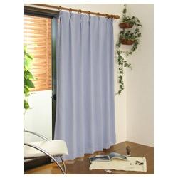 東京シンコールTOKYOSINCOL2枚組遮光・防炎ドレープカーテンスキャット(100×178cm/ブルー)[50901142BU]