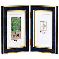 ナカバヤシNakabayashi樹脂製写真立「マーブル(大理石調)」(KG判タテ+KG判タテ/ブルー)フ-TP-155-B[フTP155B]