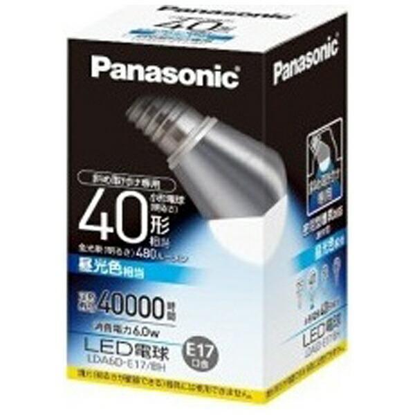 パナソニックPanasonicLDA6D-E17/BHLED電球斜め取付け専用小形電球形ホワイト[E17/昼光色/1個/40W相当/一般電球形][LDA6DE17BH]