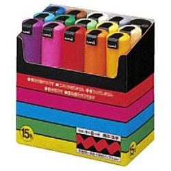 三菱鉛筆MITSUBISHIPENCIL[サインペン]ポスカ(水性顔料・太字角芯)15色セットPC8K15C[PC8K15C]