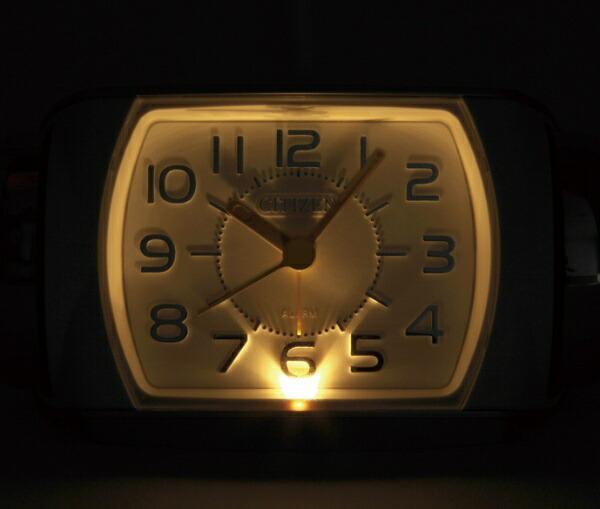 シチズンCITIZEN目覚まし時計バトルパワーR636シルバーメタリック色(黒)8RA636-002[アナログ][目覚まし時計大音量秒針静音おしゃれ8RA636002]