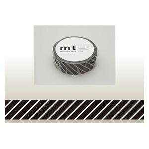 カモ井加工紙KAMOImtマスキングテープ(ストライプ・ブラック)MT01D153