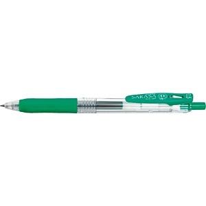 ゼブラZEBRA[ゲルインクボールペン]サラサクリップ0.5(ボール径:0.5mm、インク色:緑)JJ15-G[JJ15G]