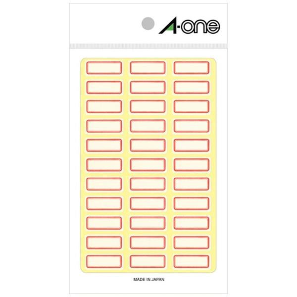 エーワンA-oneセルフラベル赤枠03001[18シート/36面/マット]【aoneC2009】