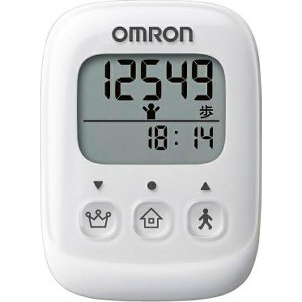 オムロンOMRON歩数計ホワイトHJ-325-W[バッグ/ポケットインタイプ][HJ325W]