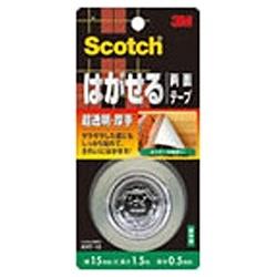 3Mジャパンスリーエムジャパンスコッチはがせる両面テープ(超透明/厚手)KRT-15[KRT15]